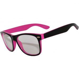 OWL ® Eyewear Retro Glasses Clear Lens Purple Black Frame (One Pair)