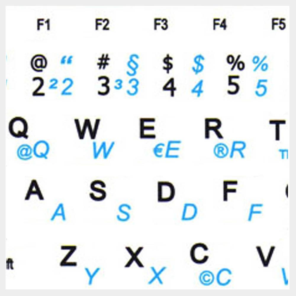 German Keyboard labels for Notebook Mini