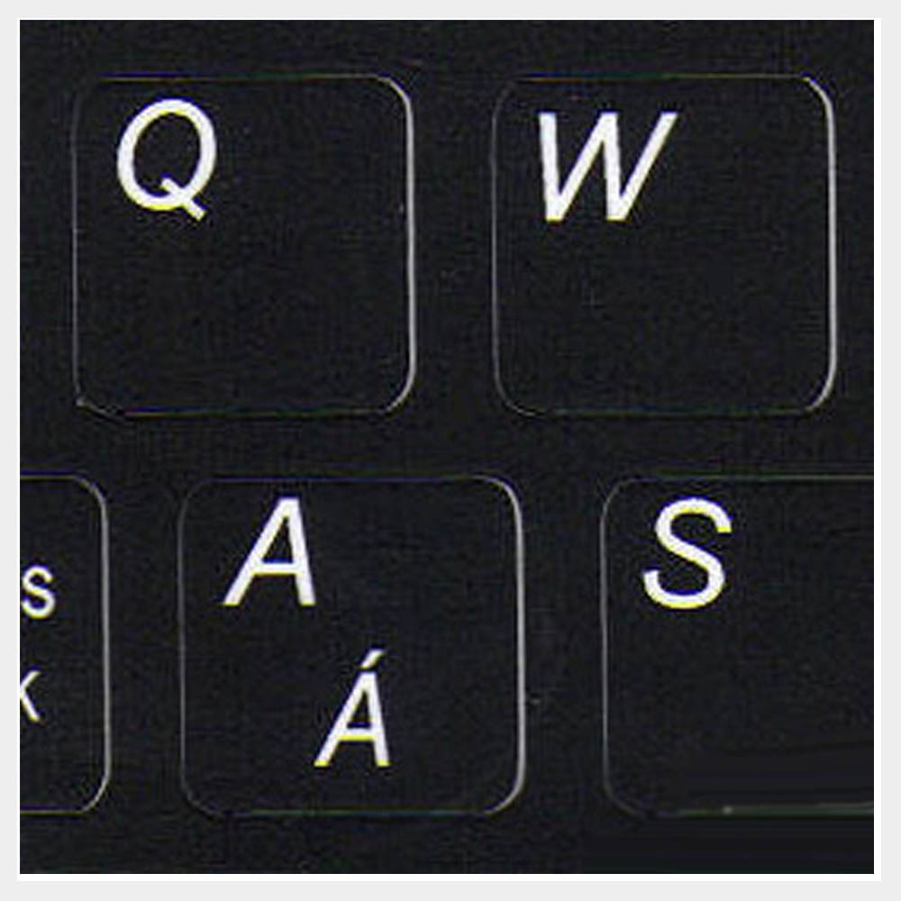 English keyboard labels for notebook mini