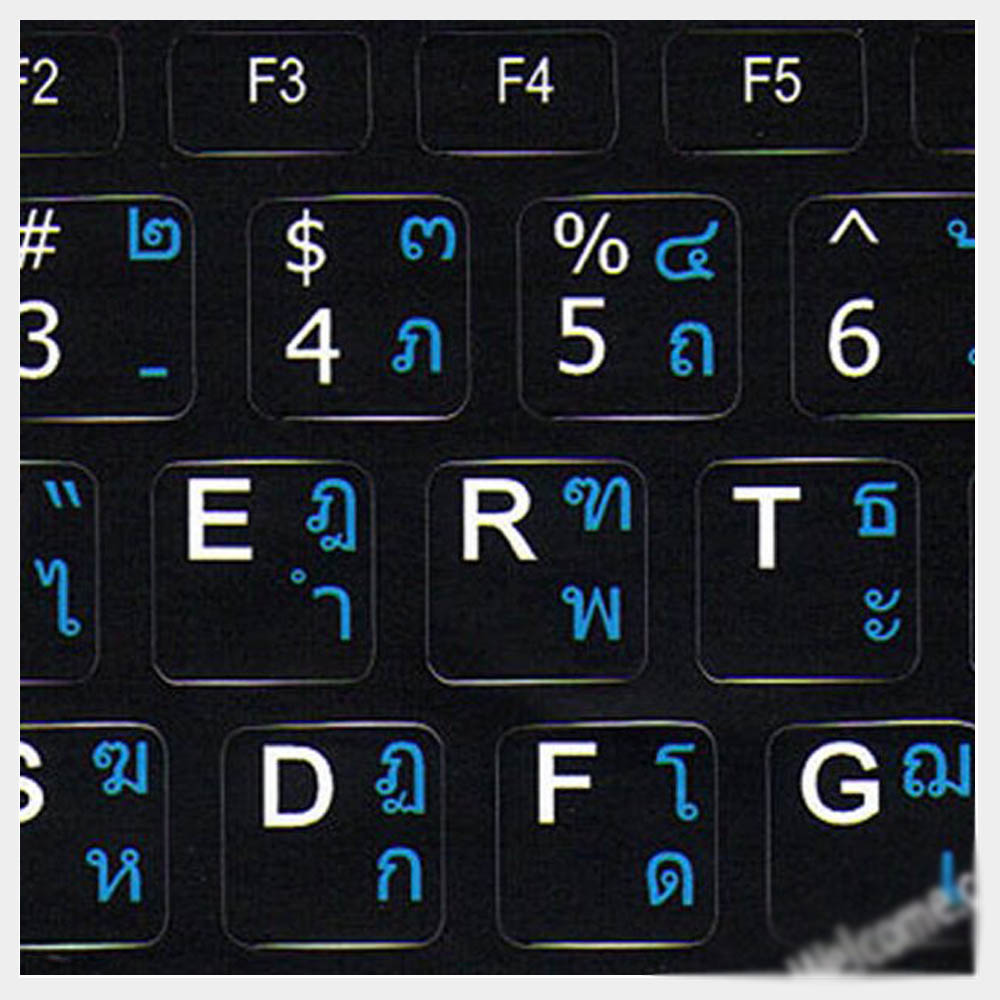 Thai keyboard Labels for Notebook Mini