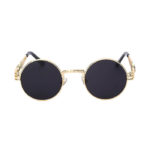 steampunk sunglasses gold black