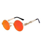 steampunk sunglasses gold red-orange mirror lens