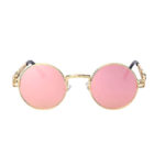 gothic rose sunglasses steampunk sunglasses gold rose pink mirror lens
