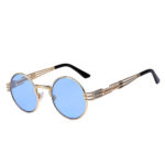 gothic sunglasses steampunk sunglasses gold blue lens
