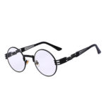steampunk shape sunglasses black clear len