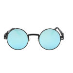 steampunk sunglasses black Blue mirror lens