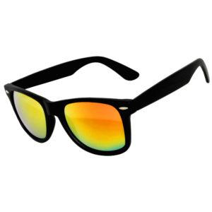Black frame matte, Mirror lens sunglasses
