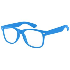 Blue frames with clear lens