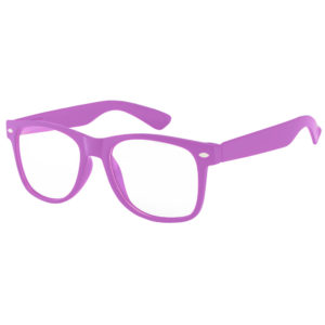Kids Purple Frame Sunglasses With Clear Lens