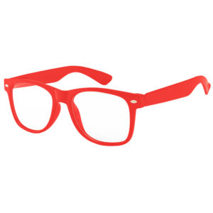 Kids Red Frame Sunglasses With Clear Lens
