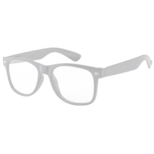 Kids White Frame Sunglasses With Clear Lens