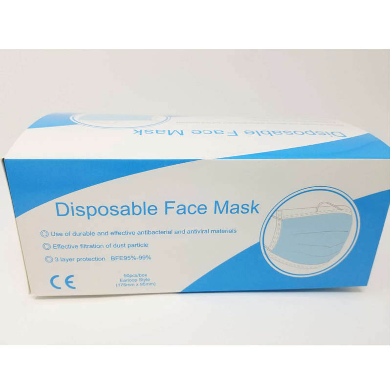 box of 50 disposable face mask