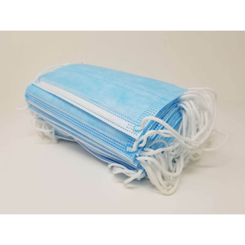 face mask blue 50 wholesale pack of 50